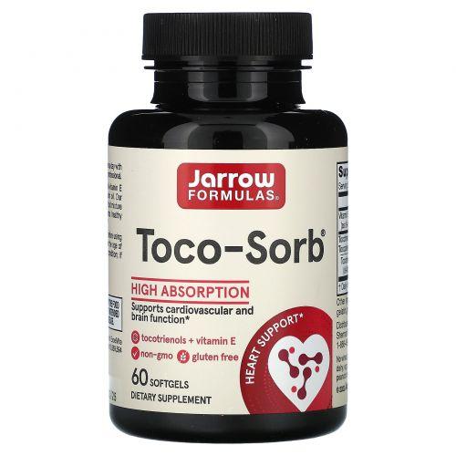 Jarrow Formulas, Toco-Sorb, смешанный Токотринол и витамин Е, 60 капсул