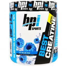 """BPI Sports, Лучший креатин, креатиновая формула для увеличения силы, """"Синий ледяной нокаут"""", 10,58 унции (300 г)"""