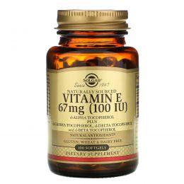 Solgar, Витамин Е, 100 ме, 100 капсул