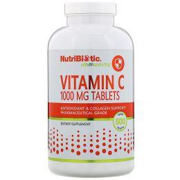 NutriBiotic, Витамин C, 1000 мг, 500 веганских таблеток