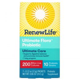 Renew Life, Ultimate Flora Probiotic, Extra Care, 200 Billion, 7 Packets, 0.86 oz (24.5 g)