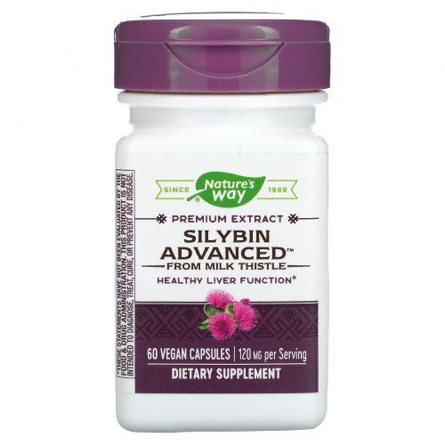 Enzymatic Therapy, Silybin Advanced from Milk Thistle, 60 растительных капсул