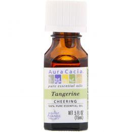 Aura Cacia, 100% Pure Essential Oil, Tangerine, .5 fl oz (15 ml)