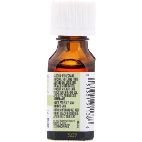 Aura Cacia, 100%-ное чистое эфирное масло, мандарины, подбадривая, 0,5 жидких унций (15 мл)