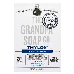 Grandpa's, Мыло для лица и тела от акне Thylox Acne Treatment, 3,25 oz (92 г)