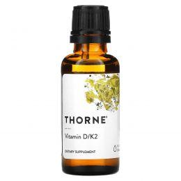 Thorne Research, Витамин D/K2, 1 жидкая унция (30 мл)