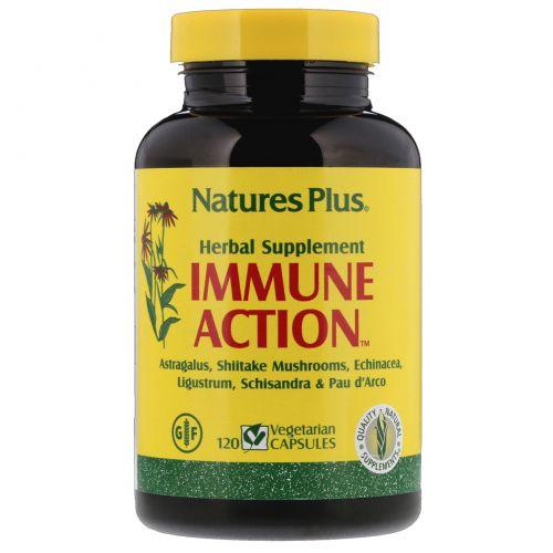 Nature's Plus, Иммуностимулирующее средство Immune Action, 120 растительных капсул