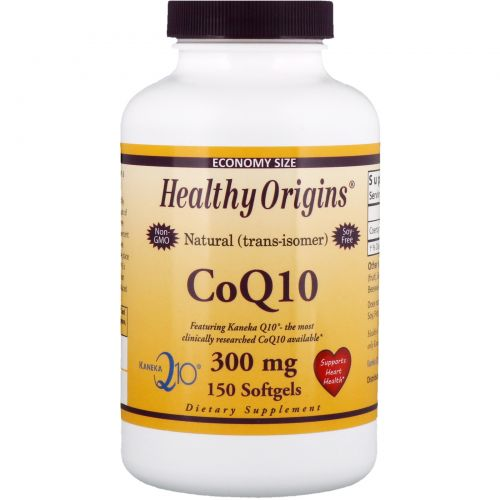 Healthy Origins, CoQ10 Kaneka Q10, 300 mg, 150 Softgels