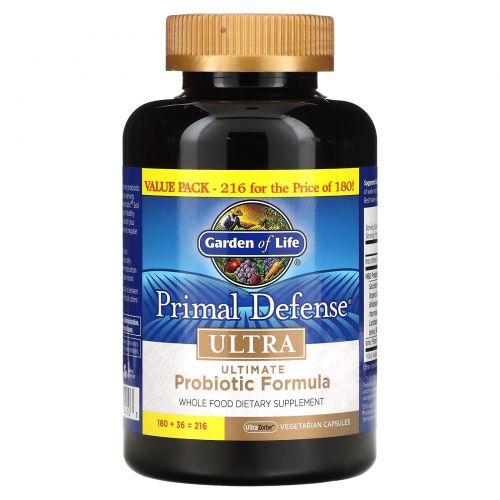 Garden of Life, Пробиотическая добавка, 216  капсул