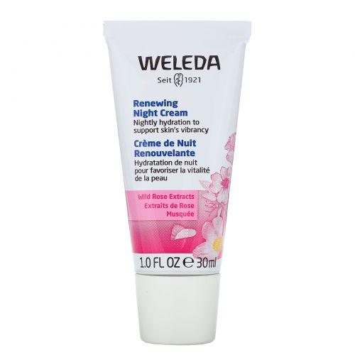 Weleda, Дикая роза, смягчающий ночной крем, 1.0 жидкая унция (30 мл)