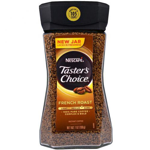 Nescafé, Taster's Choice, Instant Coffee, French Roast, 7 oz (198 g) Тестер Чойс, растворимый кофе, французской обжарки, 7 унций (198 грамм)