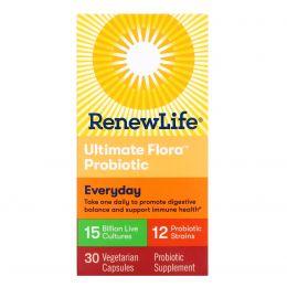 Renew Life, Ultimate Flora, Формула для взрослых, 15 миллиардов, 30 вегетарианских капсул