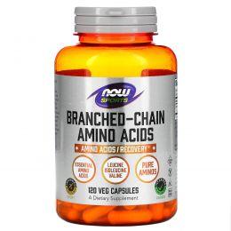 Now Foods, Спортивное питание с содержанием аминокислот с разветвленной цепью, 120 капсул