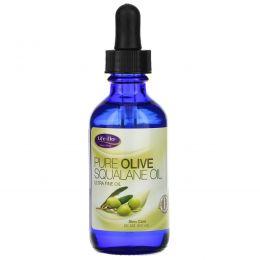 Life Flo Health, Чистый сквален оливкового масла для ухода за кожей, 60 мл
