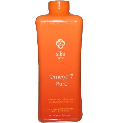 Sibu Beauty, Omega 7, 100% пюре гималайской облепихи 750 мл