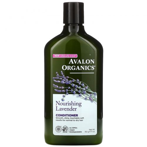 Avalon Organics, Кондиционер, Питательная лаванда, 11 унций (312 г)