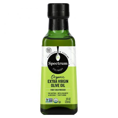 Spectrum Naturals, Органическое оливковое масло первого отжима, 236 мл