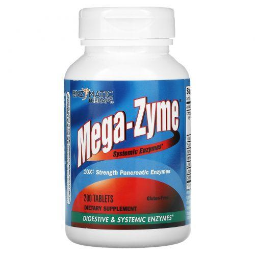 Enzymatic Therapy, Mega-Zyme, системные ферменты, 200 таблеток