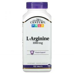 21st Century, L-аргинин, максимальная мощь, 1000 мг, 100 таблеток