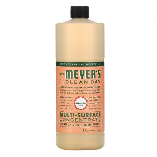 Mrs. Meyers Clean Day, Multi-Surface Concentrated Cleaner, Geranium, 32 fl. oz.