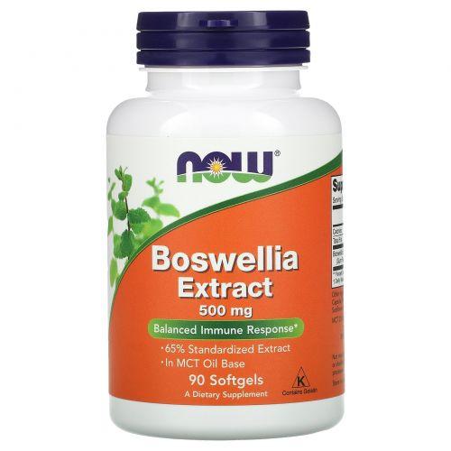 Now Foods, Экстракт босвеллии, 500 мг, 90 капсул