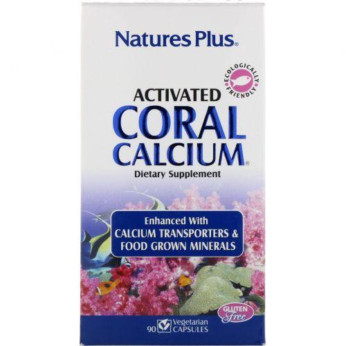 Nature's Plus, Активированный Коралловый Кальций, 90 Капсул