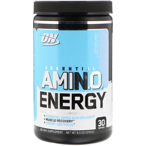 Optimum Nutrition, Essential Amino Energy, сладкая вата, 9,5 унц. (270 г)