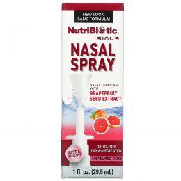 NutriBiotic, Назальный спрей, с экстрактом семян грейпфрута, 1 жидкая унция (29,5 мл)