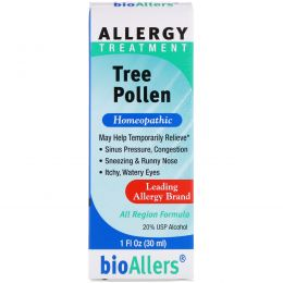 NatraBio, BioAllers, Tree Pollen, Средство от Аллергии 1 жидких унции (30 мл)