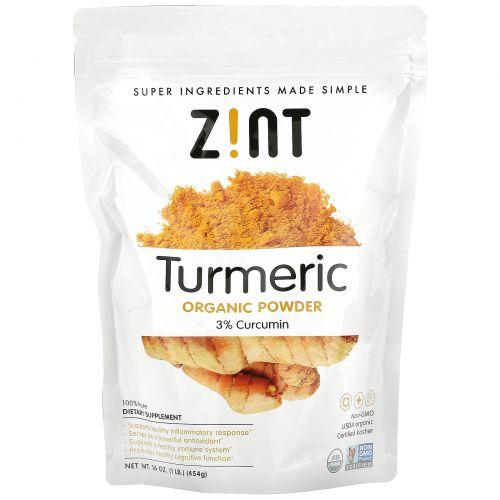 Z!NT, Organic Turmeric Powder, 16 oz (454 g)