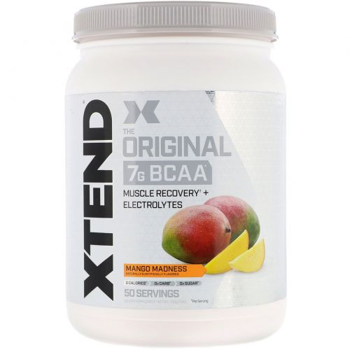 Scivation, Xtend, The Original 7g BCAA, Mango Madness, 1.5 lb (700 g)