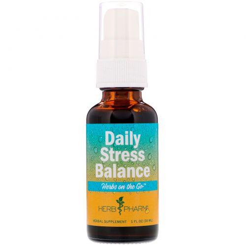 Herb Pharm, Herbs on the Go, ежедневная антистрессовая терапия, 1 ж. унц. (30 мл)
