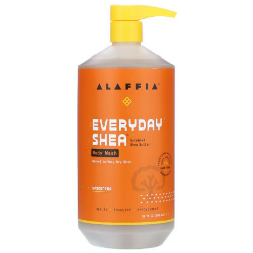 Everyday Shea, Moisturizing Body Wash, Unscented, 32 fl oz (950 ml)