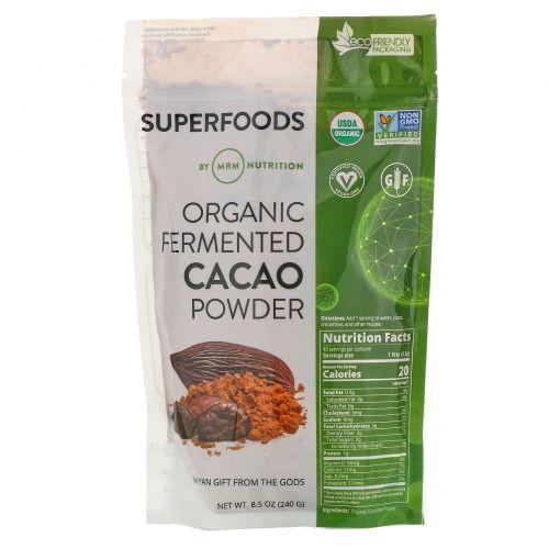 MRM, Органический ферментированный какао-порошок, 240г (8,5унции)