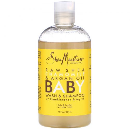Shea Moisture, Детское мыло и шампунь, с маслом босвеллия и смирной, 13 жид.унц. (384 мл)