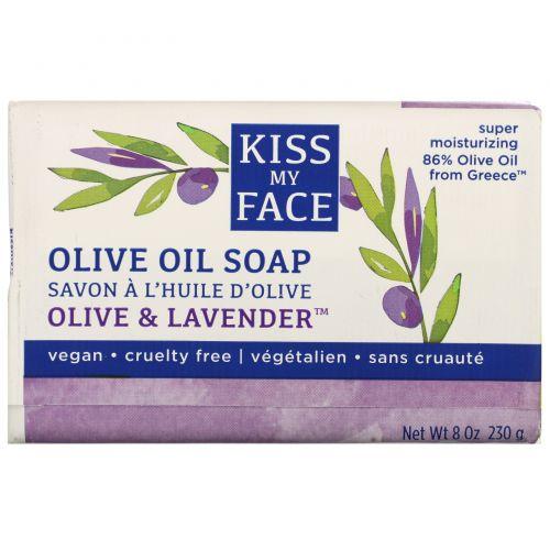 Kiss My Face, Olive Oil Soap, Olive & Lavender, 8 oz (230 g)