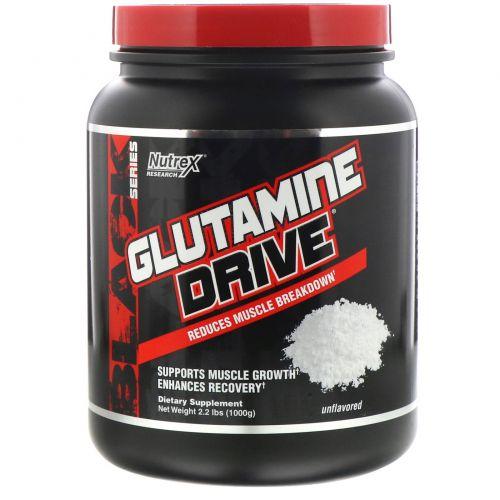 Nutrex Research, Glutamine Drive, глютамин без добавок, 1000 г (2,2 фунта)