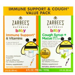 Zarbee's, Baby Immune Support & Cough Value Pack, 2 fl oz (59 ml) Each