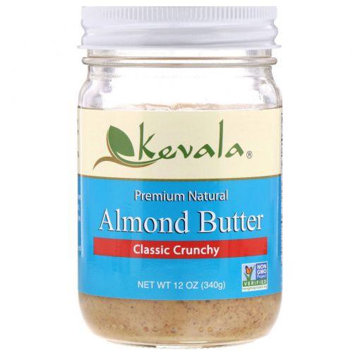 Kevala, Миндальное масло, классическое, хрустящее, 12 унций (340 г)