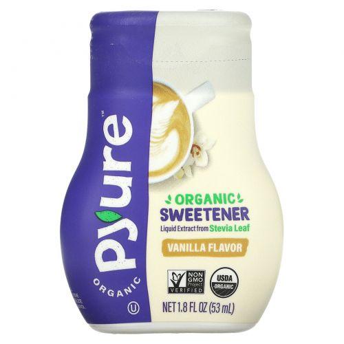 Pyure, жидкий экстракт стевии органического происхождения, со вкусом ванили, 53 мл (1,8 унции)