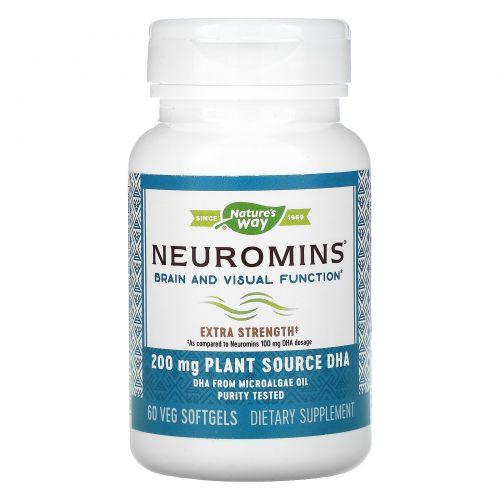 Nature's Way, EFA Gold, Neuromins, ДГК, 60 вегетарианских жидких гелевых капсул