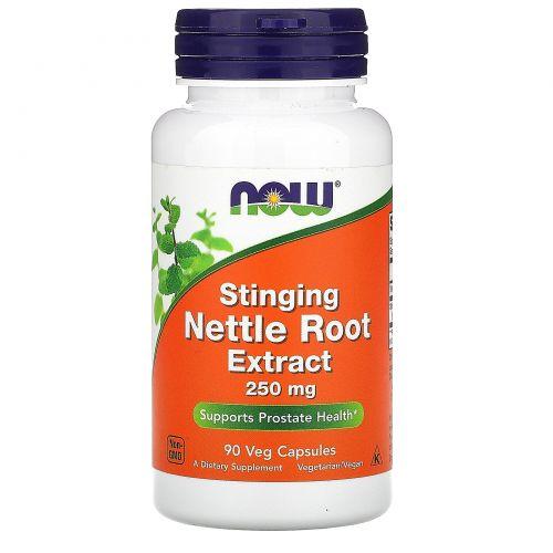 Now Foods, Экстракт корня крапивы, жгучая крапива, 250 мг, 90 капсул в растительной оболочке