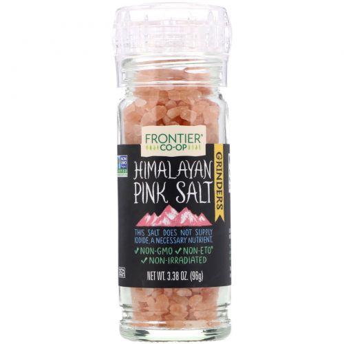 Frontier Natural Products, Гималайская розовая соль, Изысканная соль в мельнице, 3,4 унции (96 г)