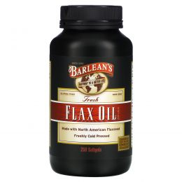 Barlean's, Свежее льняное масло, 250 желатиновых капсул