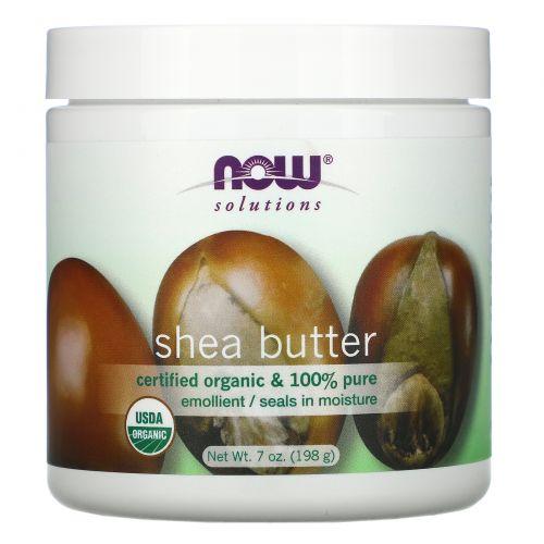 Now Foods, Now Foods, Solutions, сертифицированное натуральное масло ши, 7 жидких унций (207 мл)