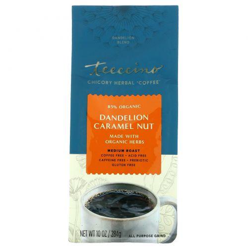 Teeccino, Chicory Herbal Coffee, Medium Roast, Dandelion Caramel Nut, Caffeine Free, 10 oz (284 g)