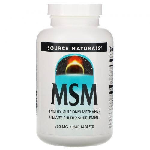 Source Naturals, МСМ, (метилсульфонилметан), 240 таблеток