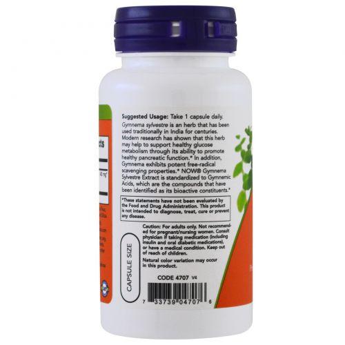 Now Foods, Джимнема сильвестра, 400 мг, 90 капсул в растительной оболочке