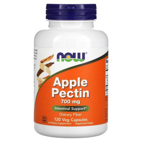 Now Foods, Яблочный пектин, 700 мг, 120 капсул