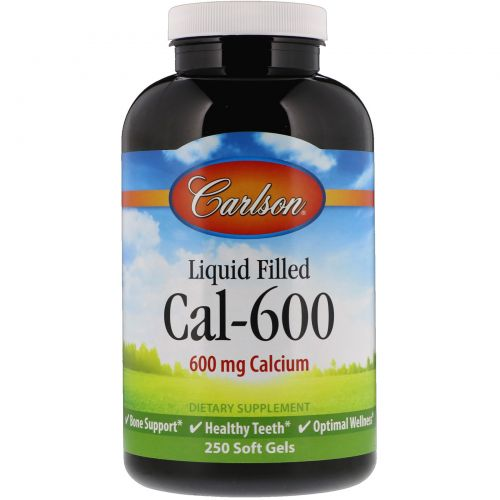 Carlson Labs, Liquid Filled Cal-600, 600 mg, 250 Soft Gels